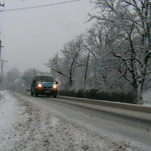 trafic in conditii de iarna