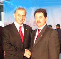 Senatorul Bota cu Mircea Geoana