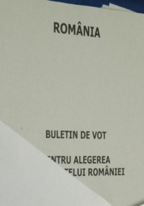 Buletin de vot dublu- pentru cei care aplica stampila gresit