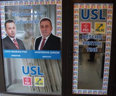 Sediu de campanie al vicepresedintelui PSD, Gheorghe Simon, pe strada Trandafirilor