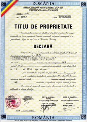 Procedura de emitere a titlurilor de proprietate a fost deblocata