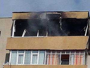 incendiu in balcon