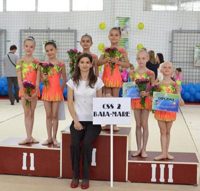 Echipa de la CSS 2 s-a calificat la Cupa României de copii la gimnastică ritmică