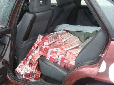 Mii de pachete de țigări de contrabandă depistate la frontiera de nord