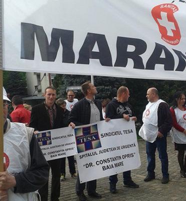 CONFLICT DE MUNCĂ ÎN SĂNĂTATE: Turda: Ne-am săturat de promisiuni şi umilinţă