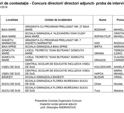 281 de contestații a concursului pentru directori de şcoli. CV-urile candidaților, la Corpul de Control al Ministerului