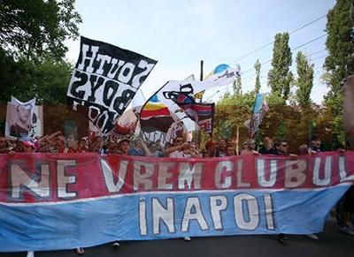 Steliștii protestează în Baia Mare