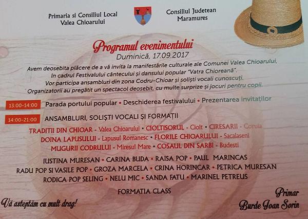 """Cântec și joc la Valea Chioarului. O nouă ediție a Festivalului """"Vatra Chioreană"""""""