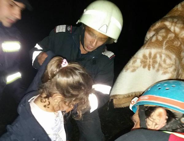 copil salvat de pompieri