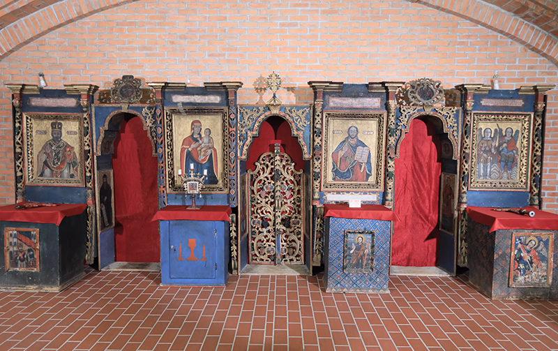 Icoane vechi expuse la Muzeul Episcopiei Maramureşului şi Sătmarului