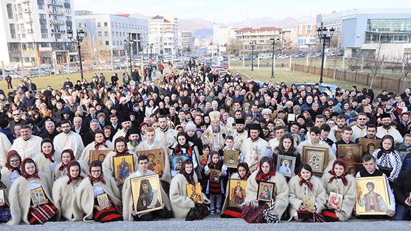 Procesiunea cu icoane la Catedrala Episcopală din Baia Mare