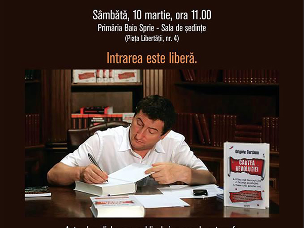 """Cartea """"Misterele Revoluției din 1989"""", lansată în Baia Sprie"""