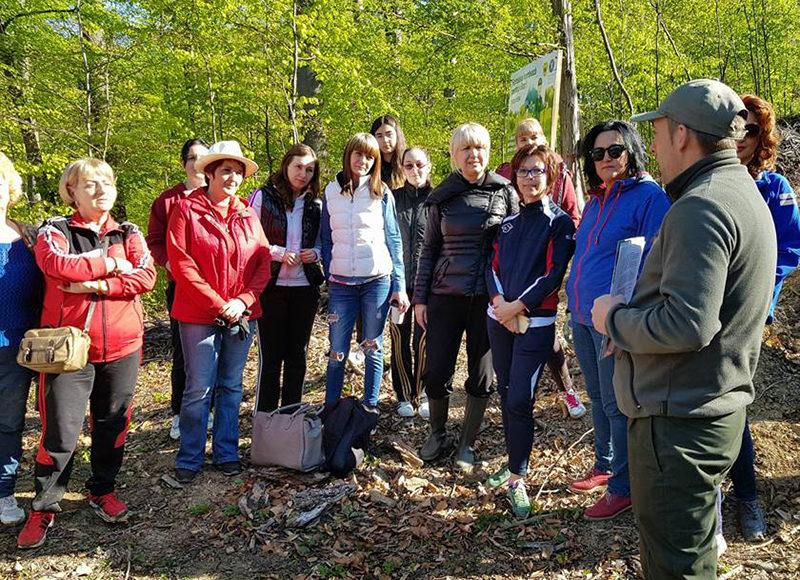 Femeile din OFSD Șomcuta – la o acțiune de împădurire