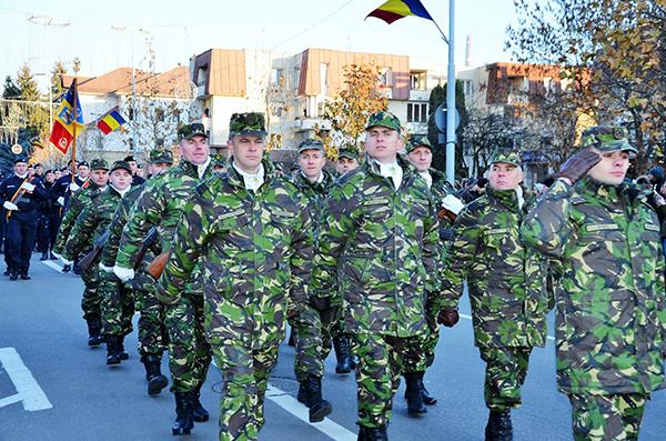 Paradă militară de Ziua Națională, în Baia Mare