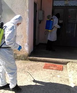 Acţiuni de dezinfectare a zonelor publice, în Şomcuta Mare