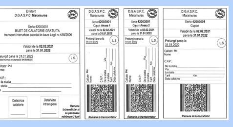 Bilete de călătorie pentru persoane cu dizabilități transmise prin poștă