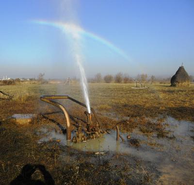 Un izvor de apa minerala, a pus pe jar autoritatile