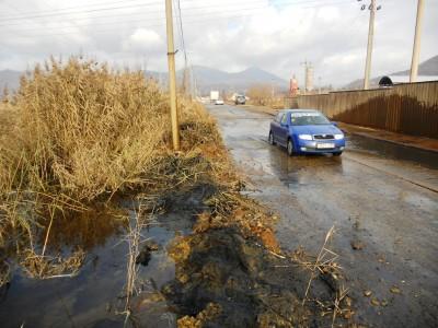 Strada inundata in Baia Mare