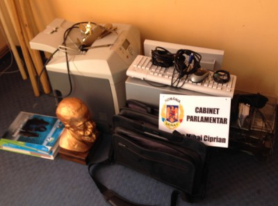 Cabinetul senatorului Rogojan, transformat in morman