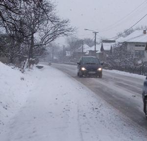 Circulație rutieră în condiții de iarnă. Vreme deosebit de rece