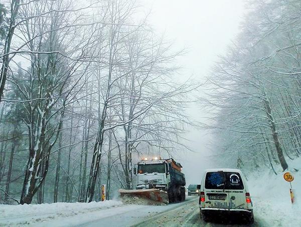 Vremea în Maramureș. Circulație rutieră în condiții de iarnă