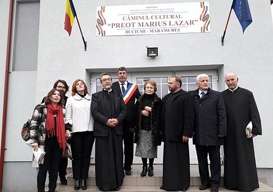 În memoria preotului Marius Lazăr: Căminul Cultural îi poartă numele Preoteasa către buciumeni: Îmi sunteți dragi!